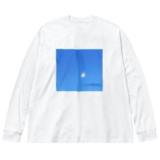 月と雲 Big Silhouette Long Sleeve T-Shirt