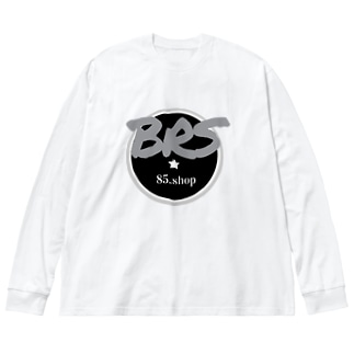 BRS85. (Gray) Big silhouette long sleeve T-shirts