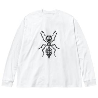 ant ☆ モノトーンバージョン (あり) Full of vitality (フル オブ バイタリティ) Big silhouette long sleeve T-shirts