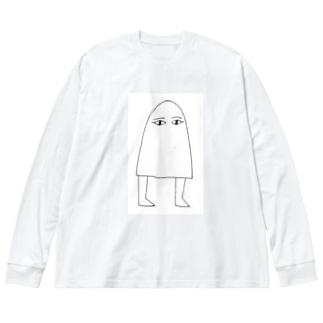 メジェド様 Big silhouette long sleeve T-shirts
