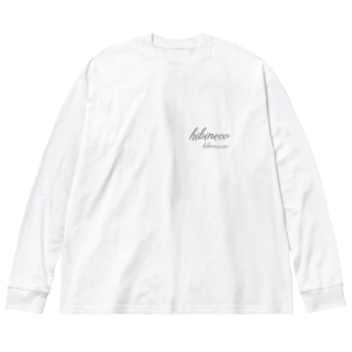 hibineco/hibinecocco 筆記フォント Big silhouette long sleeve T-shirts
