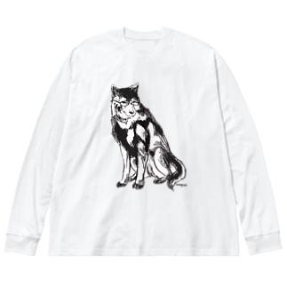 MEGANE-Dog. Big silhouette long sleeve T-shirts