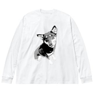 I🖤DOG Big silhouette long sleeve T-shirts