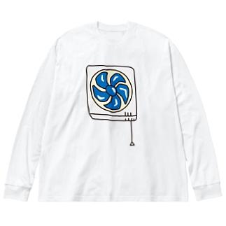 換気扇 Big silhouette long sleeve T-shirts