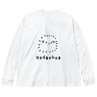 無色のハリネズミ Big silhouette long sleeve T-shirts