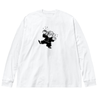 チャイナ子ちゃん Big silhouette long sleeve T-shirts