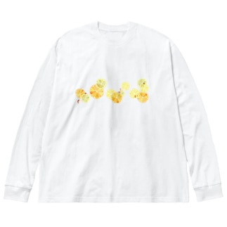 Citrus Big silhouette long sleeve T-shirts