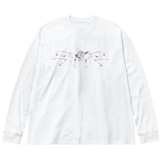 みょんみょんみょん Big silhouette long sleeve T-shirts