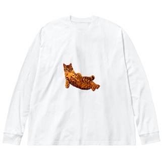 Elegant Cat 3 Big silhouette long sleeve T-shirts