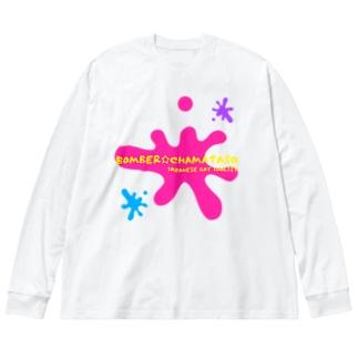 BOMBER☆CHAMATASO. Big silhouette long sleeve T-shirts