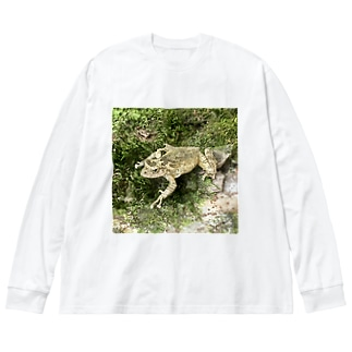 Fantastic Frog -Original Version- Big silhouette long sleeve T-shirts