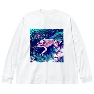 Fantastic Frog -Wild Version- Big silhouette long sleeve T-shirts
