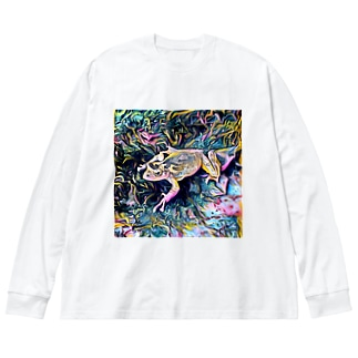 Fantastic Frog -Highlight Version- Big silhouette long sleeve T-shirts