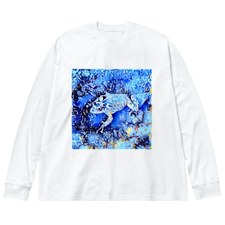 Fantastic Frog -Frozen Version- Big silhouette long sleeve T-shirts