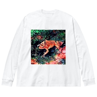 Fantastic Frog -Tropical Version- Big silhouette long sleeve T-shirts