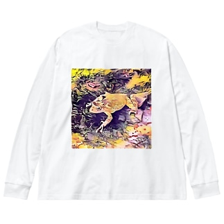 Fantastic Frog -Soul Version- Big silhouette long sleeve T-shirts
