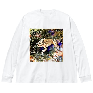 Fantastic Frog -Geode Version- Big silhouette long sleeve T-shirts