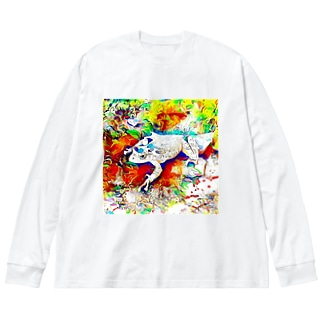 Fantastic Frog -Daydream Version- Big silhouette long sleeve T-shirts
