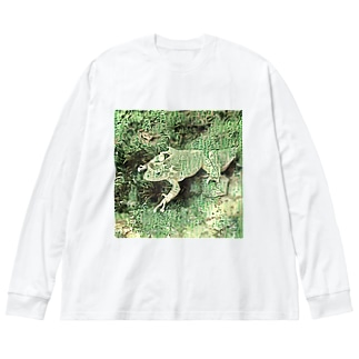 Fantastic Frog -Paper Money Version- Big silhouette long sleeve T-shirts