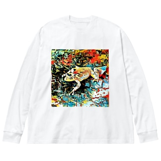 Fantastic Frog -Plein Air Version- Big silhouette long sleeve T-shirts