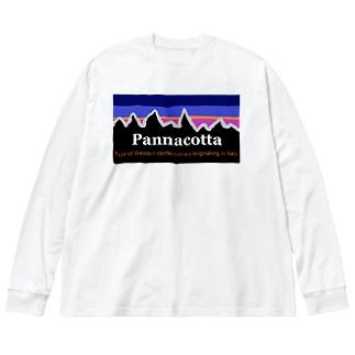 パロディ Big silhouette long sleeve T-shirts