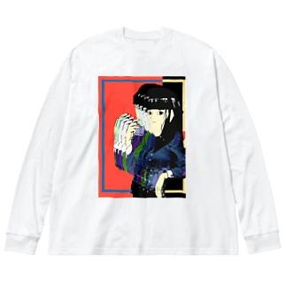 酩酊 Big silhouette long sleeve T-shirts