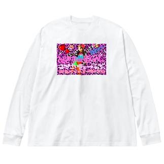 ギャル盛れ Big silhouette long sleeve T-shirts