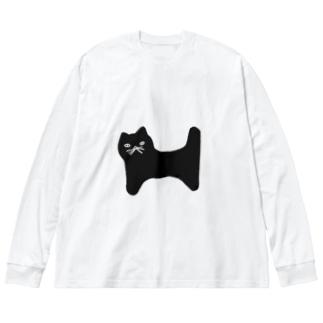 nyaaaan Big silhouette long sleeve T-shirts