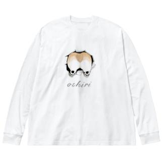 oshiri Big silhouette long sleeve T-shirts