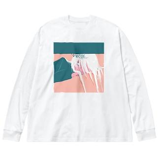 視線 Big silhouette long sleeve T-shirts