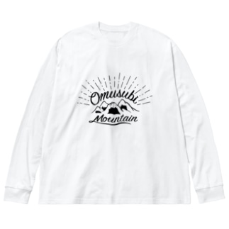 おむすびマウンテン Big silhouette long sleeve T-shirts