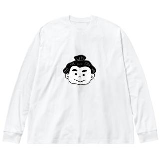 せきわけくん Big silhouette long sleeve T-shirts