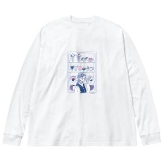 食品サンプル Big silhouette long sleeve T-shirts