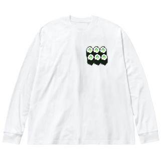 お寿司・かっぱ巻き Big silhouette long sleeve T-shirts