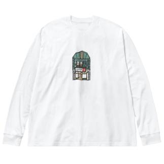 よろず堂 いろどり Big silhouette long sleeve T-shirts