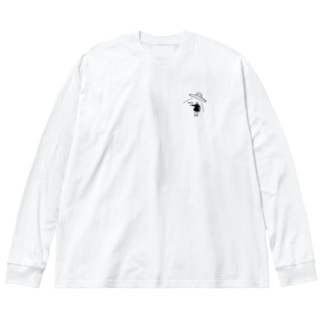 ワレワレハ... Big silhouette long sleeve T-shirts