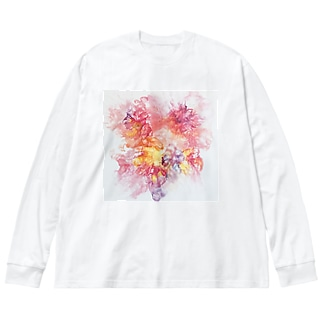 PinkFluidFlowers Big Silhouette Long Sleeve T-Shirt