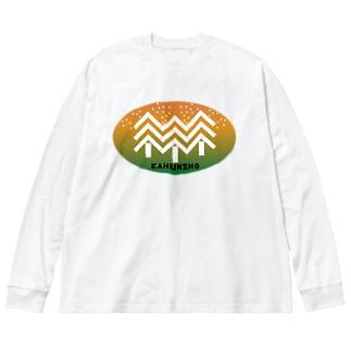 花粉症LOGO Big silhouette long sleeve T-shirts