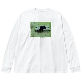 死人に口無し Big silhouette long sleeve T-shirts