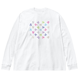 PANDA LAUREN Big silhouette long sleeve T-shirts