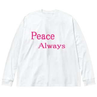 Peace Always Big silhouette long sleeve T-shirts