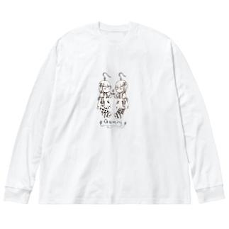アクセな12星座 双子座 Big silhouette long sleeve T-shirts
