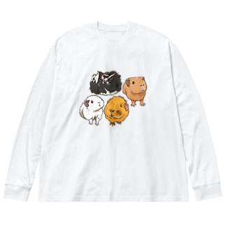 キャメルちゃん、ぷーちゃん、エルザちゃん、アスタちゃん Big silhouette long sleeve T-shirts