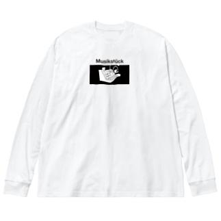 ヴォコーダー文鳥 Big silhouette long sleeve T-shirts
