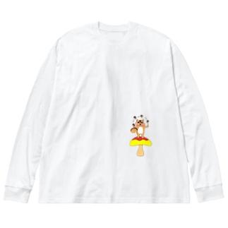 ユリスの森Ⅱ Big silhouette long sleeve T-shirts
