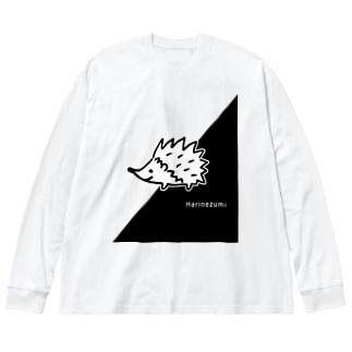 ハリネズミくん Big silhouette long sleeve T-shirts