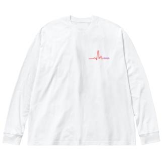 正常な脈 Big silhouette long sleeve T-shirts