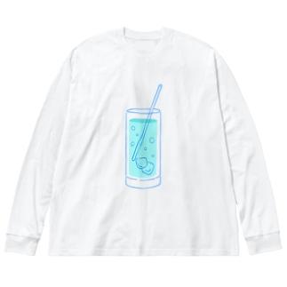 しゅわしゅわ Big Silhouette Long Sleeve T-Shirt