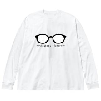 kazukiboxのメガネ属性 Big silhouette long sleeve T-shirts