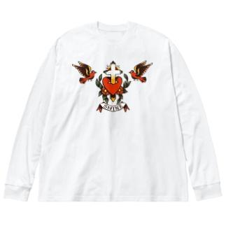 swallow Big silhouette long sleeve T-shirts
